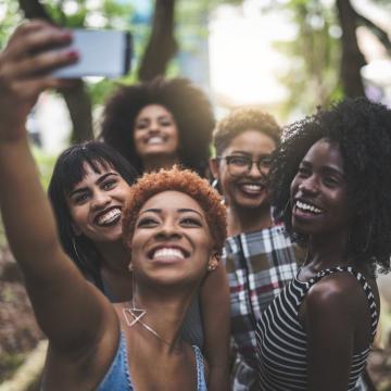 black women taking a selfie